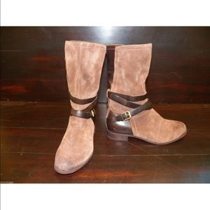 New Women UGG Deanna Brownstone Brown Leather Boot